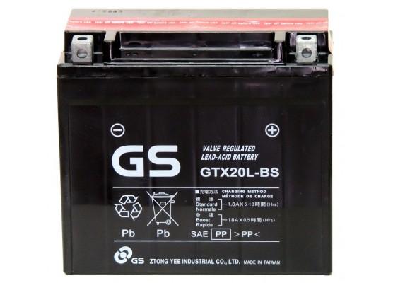 Μπαταρία μοτοσυκλετών GS Maintenance Free GTX20L-BS - 12V 18 (10HR)Ah - 275 CCA(EN) εκκίνησης