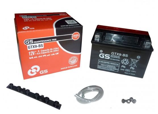 Μπαταρία μοτοσυκλετών GS Maintenance Free GTX9-BS - 12V 8Ah (10HR)- 120 CCA(EN) εκκίνησης