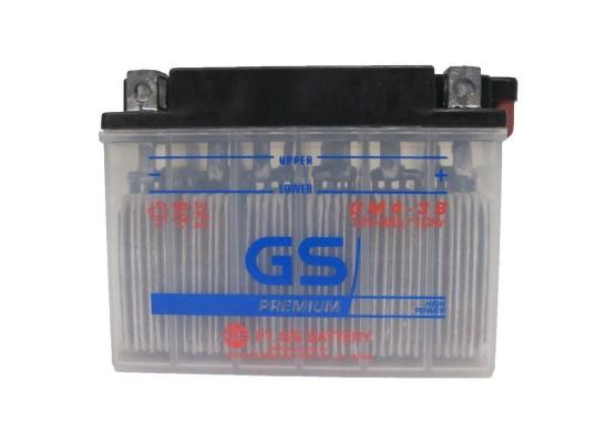Μπαταρία μοτοσυκλετών ανοιχτού τύπου GS YB4L-B - 12V 4 (10HR)