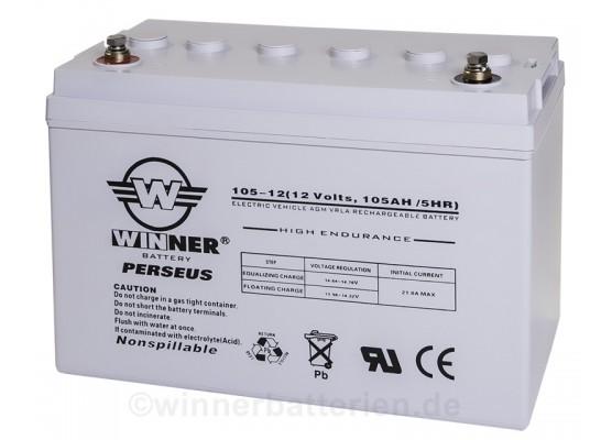Μπαταρία Winner Perseus VRLA - AGM τεχνολογίας ηλεκτρικών οχημάτων - 12V 105Ah