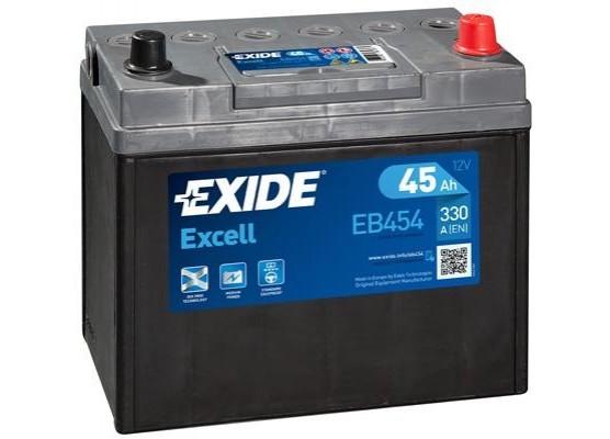 Μπαταρία αυτοκινήτου Exide Excell EB454 - 12V 45Ah - 300 CCA A(EN) εκκίνησης