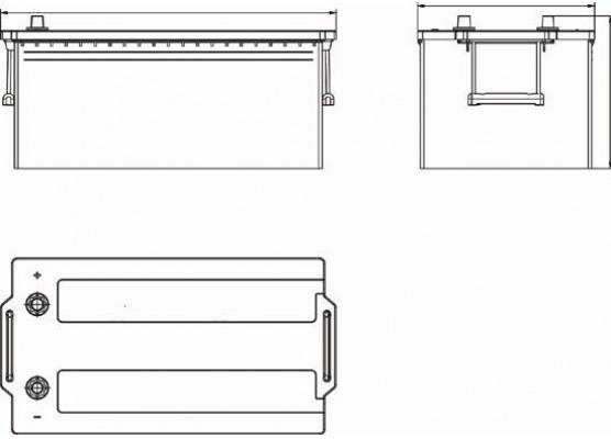 Μπαταρία Exide Professional Power EF2353 - 12V 235Ah - 1300CCA A(EN) εκκίνησης
