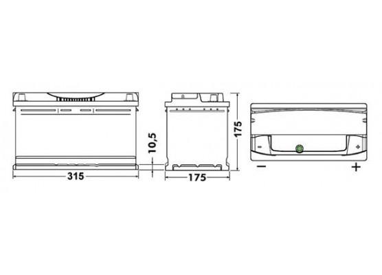 Μπαταρία αυτοκινήτου Exide Premium EA852 - 12V 85 Ah - 800CCA A(EN) εκκίνησης
