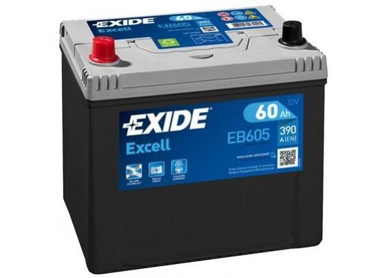 Μπαταρία αυτοκινήτου Exide Excell EB605 12V 60Ah - 390 CCA εκκίνησης