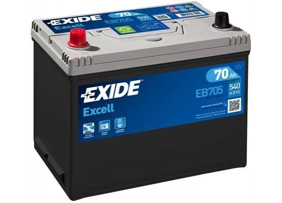 Μπαταρία αυτοκινήτου Exide Excell EB705 - 12V 70Ah - 540 CCA εκκίνησης