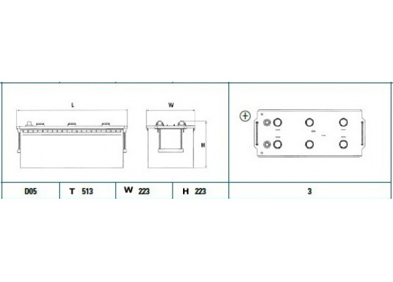 Μπαταρία Exide Professional EG1803 - 12V 180Ah - 1000CCA A(EN) εκκίνησης