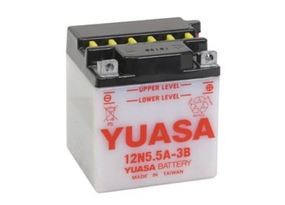 Μπαταρία μοτοσυκλετών YUASA Conventional 12N5.5A-3B - 12V 5.5 (10HR) - 58 CCA (EN) εκκίνησης