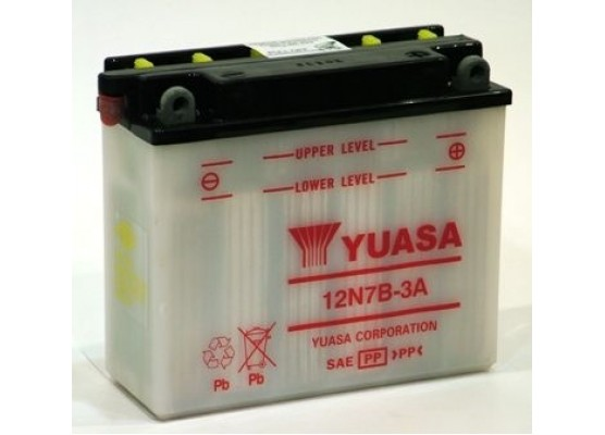 Μπαταρία μοτοσυκλετών YUASA Conventional 12N7B-3A - 12V 7 (10HR) - 74 CCA (EN) εκκίνησης