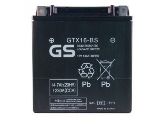 Μπαταρία μοτοσυκλετών GS Maintenance Free GTX16-BS - 12V 14 Ah(10HR) - 240 CCA(EN) εκκίνησης