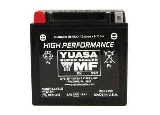 Μπαταρία μοτοσυκλετών YUASA High Performance Maintenance Free YTX14H-BS -12V 12 (10HR)Ah - 210 CCA(EN) εκκίνησης