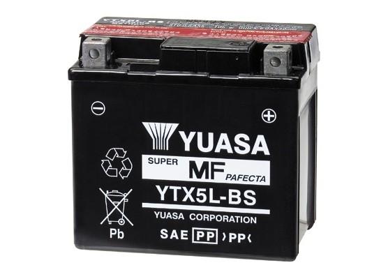 Μπαταρία μοτοσυκλετών YUASA TAIWAN Maintenance Free YTX5L-BS - 12V 4 (10HR)Ah - 80 CCA(EN) εκκίνησης