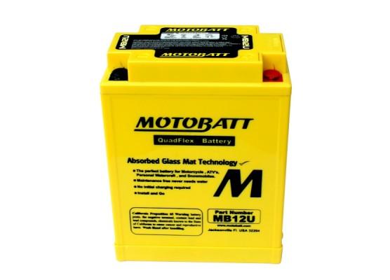 Μπαταρία μοτοσυκλετών MOTOBATT MB12U - 12V 15 (10HR)Ah - 160CCA εκκίνησης