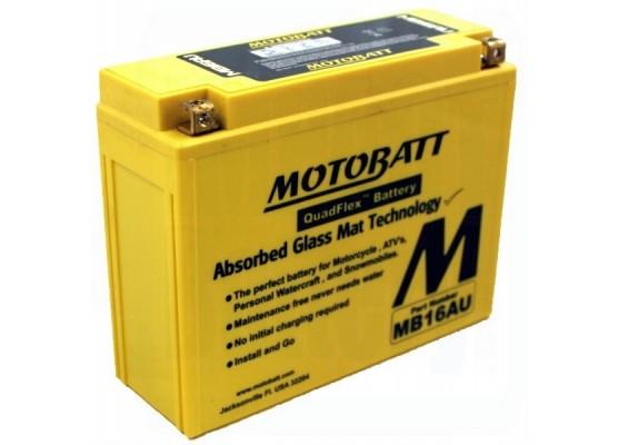 Μπαταρία μοτοσυκλετών MOTOBATT MB16AU - 12V 21 (10HR)Ah - 230CCA εκκίνησης