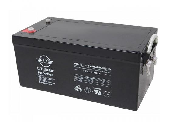 Μπαταρία Winner Proteus VRLA - Deep Cycle AGM τεχνολογίας - 12V 200Ah