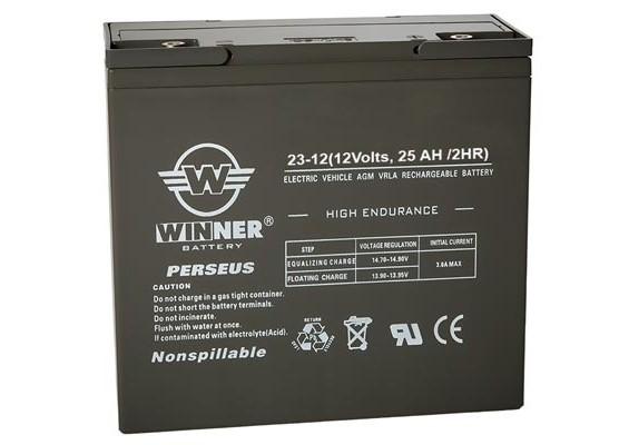 Μπαταρία Winner Perseus VRLA - AGM τεχνολογίας ηλεκτρικών οχημάτων - 12V 23Ah
