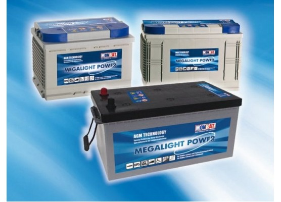 Μπαταρία Monbat Megalight Power ML1290M Deep Cycle AGM - 12V 90Ah(C100)