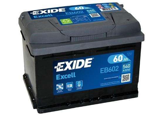 Μπαταρία αυτοκινήτου Exide Excell EB602 - 12V 60Ah - 540 CCA A(EN) εκκίνησης