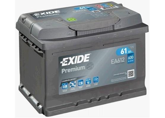 Μπαταρία αυτοκινήτου Exide Premium EA612 - 12V 61 Ah - 600CCA A(EN) Εκκίνησης