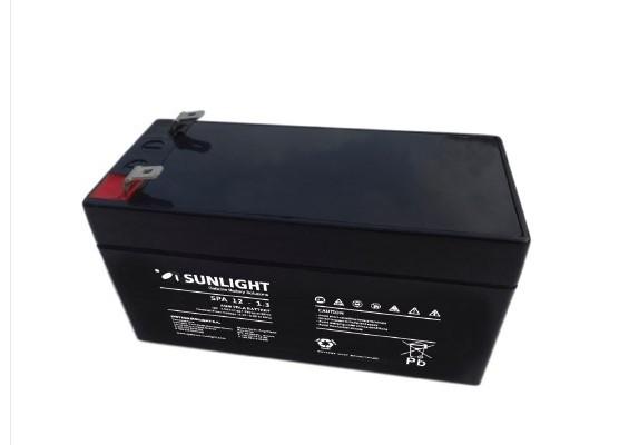 Μπαταρία Sunlight SPA12-1.3 VRLA - AGM τεχνολογίας - 12V 1.2Ah (C20)
