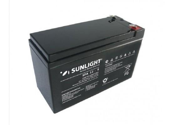 Μπαταρία Sunlight SPA12-9 VRLA - AGM τεχνολογίας - 12V 9Ah (C20)