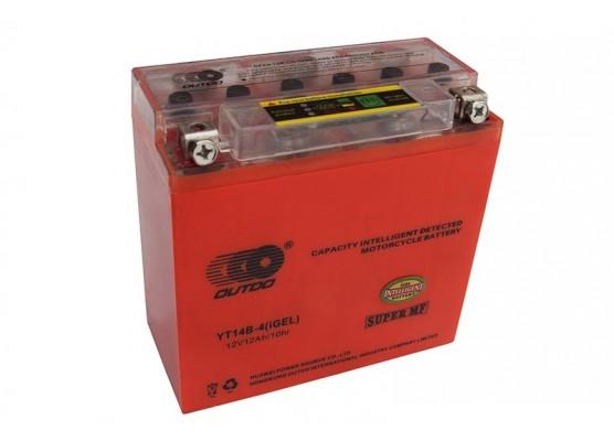 Μπαταρία μοτοσυκλετών OUTDO YT14B-BS IGEL - 12V 12 (10HR)Ah - 210 CCA(EN) εκκίνησης