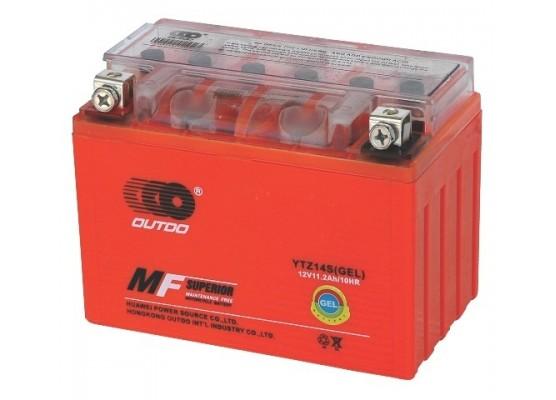 Μπαταρία μοτοσυκλετών OUTDO YTZ14S IGEL - 12V 11 Ah - 230 CCA(EN) εκκίνησης