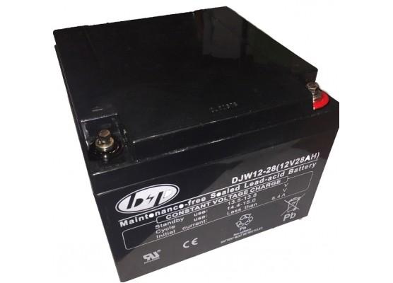 Μπαταρία B&P DJW 12-28(T12) VRLA - AGM τεχνολογίας - 12V 28Ah (C20)
