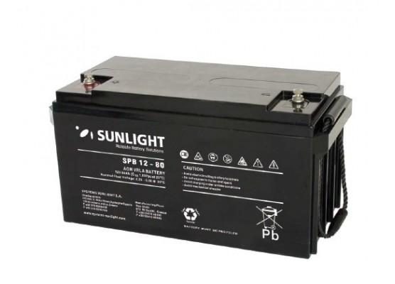Μπαταρία Sunlight Accuforce12-80 VRLA - AGM τεχνολογίας 12V - 80Ah (C10)