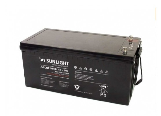 Μπαταρία Sunlight Accuforce12-200 VRLA - AGM τεχνολογίας 12V - 200Ah (C10)