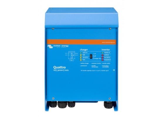 Μετατροπέας - inverter με φορτιστή DC-AC καθαρού ημιτόνου Victron Quattro 12/3000/120-50/50