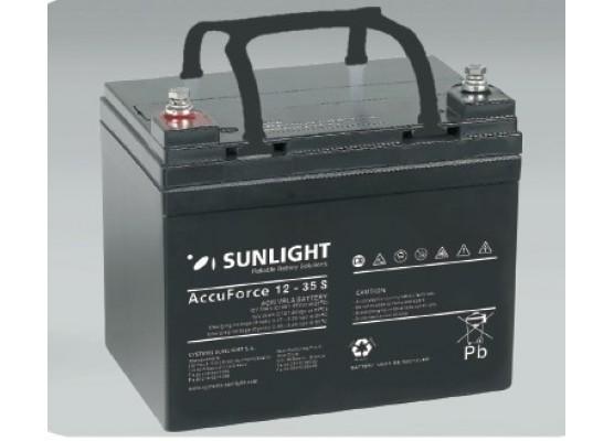 Μπαταρία Sunlight Accuforce Solar 12-35S VRLA - AGM τεχνολογίας 12V - 35Ah (C100)