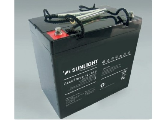 Μπαταρία Sunlight Accuforce Solar 12-60S VRLA - AGM τεχνολογίας 12V - 61Ah (C100)