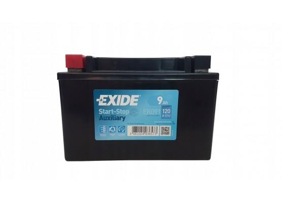 Μπαταρία μοτοσυκλετών EXIDE EK 091 12V 9AH - 120CCA