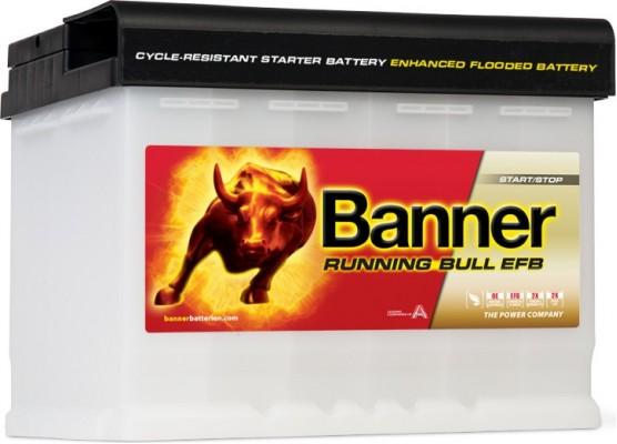 Μπαταρία τεχνολογίας EFB Banner Running Bull PRO 56511 12V 65Ah (C20) - 620CCA εκκίνησης