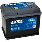 Μπαταρία αυτοκινήτου Exide Excell EB620 - 12V 62Ah - 540 CCA A(EN) εκκίνησης