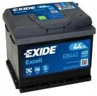 Μπαταρία αυτοκινήτου Exide Excell EB442 - 12V 44Ah - 420 CCA A(EN) εκκίνησης