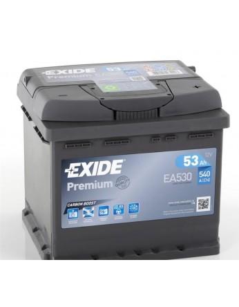 Μπαταρία αυτοκινήτου Exide Premium EA530 - 12V 53 Ah - 540CCA A(EN) εκκίνησης