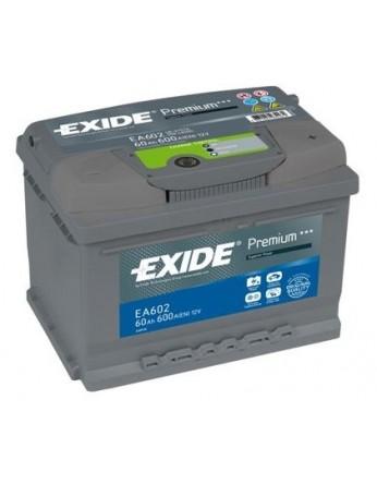 Μπαταρία αυτοκινήτου Exide Premium EA602 -12V 60 Ah - 600CCA A(EN) εκκίνησης