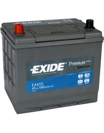 Μπαταρία αυτοκινήτου Exide Premium EA655 - 12V 65 Ah - 580CCA A(EN) εκκίνησης