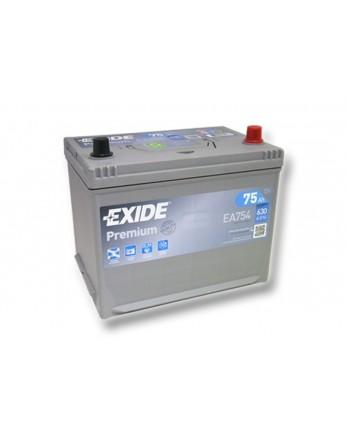 Μπαταρία αυτοκινήτου Exide Premium EA754 - 12V 75 Ah - 630CCA A(EN) εκκίνησης
