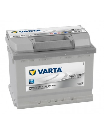Μπαταρία αυτοκινήτου Varta Silver D15 - 12V 63 Ah - 610CCA A(EN) εκκίνησης