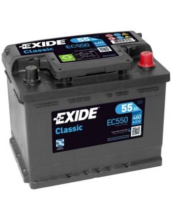 Μπαταρία αυτοκινήτου Exide Classic EC550 - 12V 55 Ah - 460CCA A(EN) Εκκίνησης