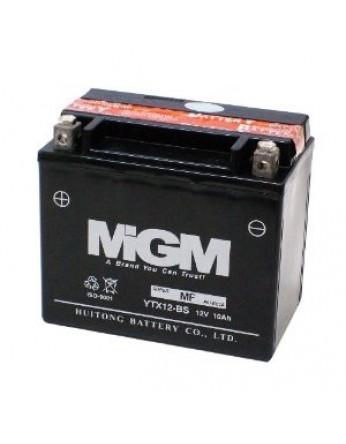 Μπαταρία μοτοσυκλετών MGM Maintenance Free YTX12-BS - 12V 10 (10HR)Ah - 180 CCA(EN) εκκίνησης