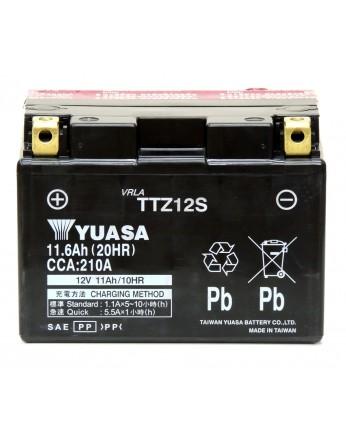 Μπαταρία μοτοσυκλετών YUASA TAIWAN High Performance Maintenance Free TTZ12S -12V 11.6 (20HR)Ah - 210 CCA(EN) εκκίνησης (με υγρά)