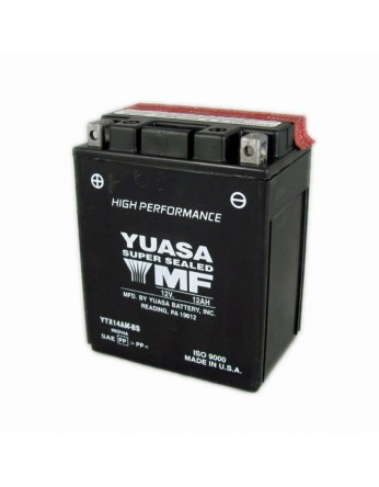 Μπαταρία μοτοσυκλετών YUASA High Performance Maintenance Free YTX14AH-BS -12V 12 (10HR)Ah - 240 CCA(EN) εκκίνησης