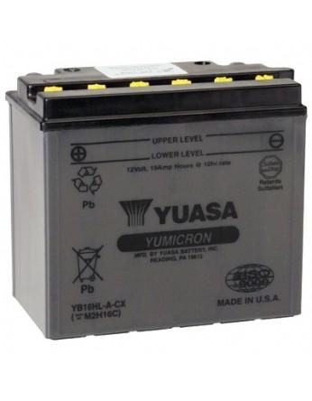 Μπαταρία μοτοσυκλετών YUASA Yumicron CX YB16HL-A-CX - 12V 19 (10HR) Ah - 255 CCA(EN) εκκίνησης