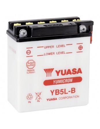 Μπαταρία μοτοσυκλετών YUASA Yumicron INDO YB5L-B - 12V 5 (10HR) - 65 CCA (EN) εκκίνησης (χωρίς υγρά)