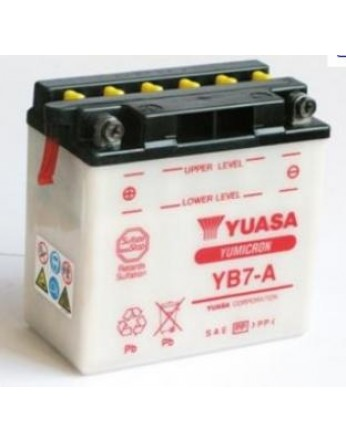 Μπαταρία μοτοσυκλετών YUASA Yumicron YB7-A - 12V 8 (10HR) - 124 CCA (EN) εκκίνησης
