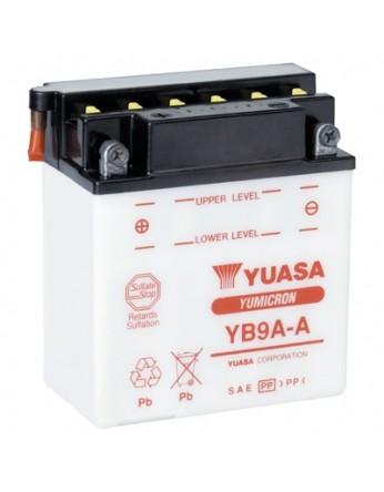 Μπαταρία μοτοσυκλετών YUASA Yumicron YB9A-A - 12V 9 (10HR) - 124 CCA (EN) εκκίνησης