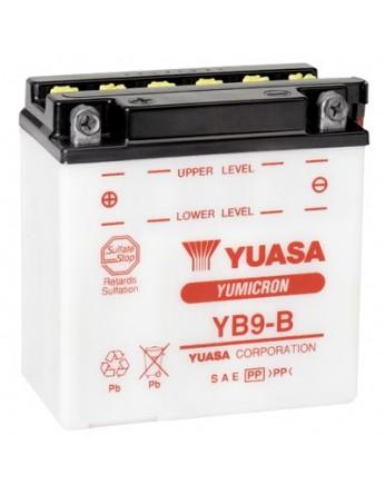 Μπαταρία μοτοσυκλετών YUASA Yumicron YB9-B (ΧΩΡΙΣ ΥΓΡΑ) - 12V 9 (10HR) - 130 CCA (EN) εκκίνησης